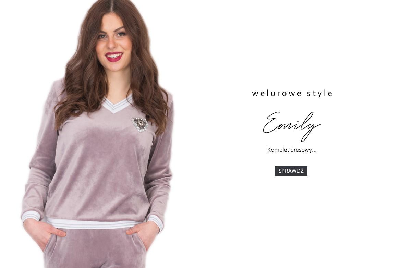 Emily - Komplet welurowy